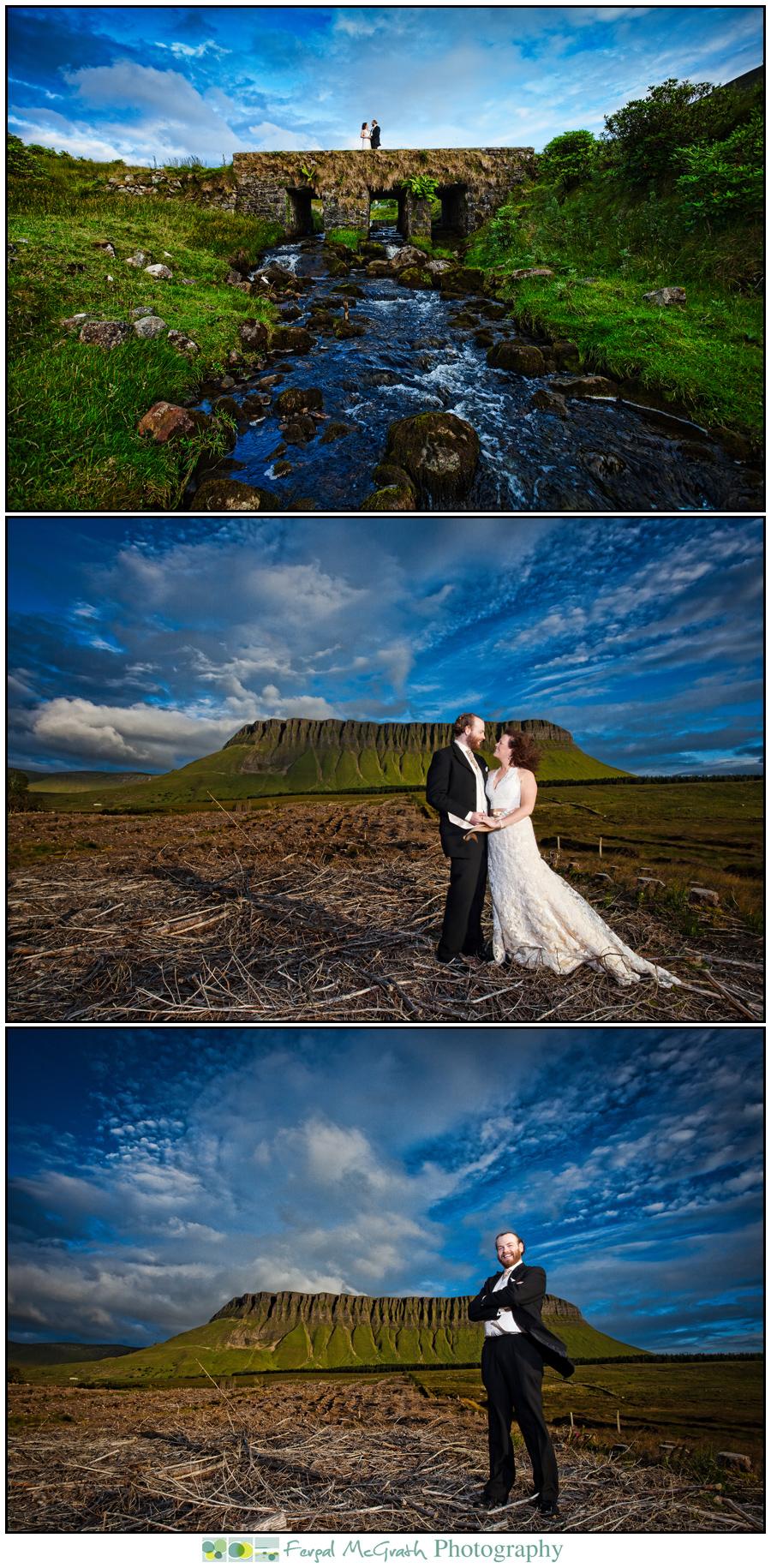 cherish the dress photos ireland, sligo, donegal in front of benbulben mountain