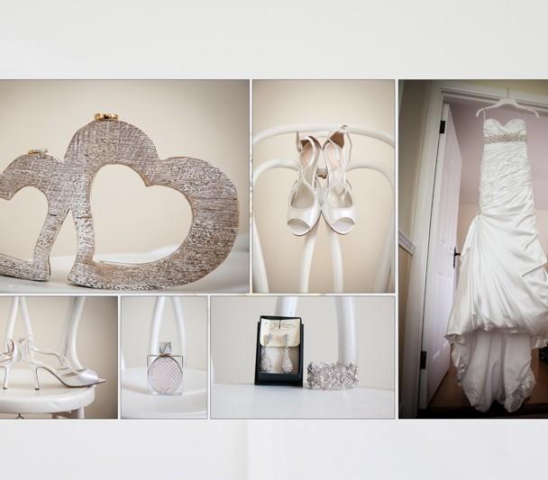 Wedding album design of the detail shots