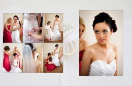 Album design of bride getting ready
