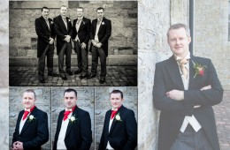 Sample spread of Groom and Groomsmen