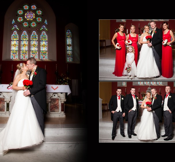 Bridal Party in the church