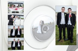 Album Page design with the groomsmen