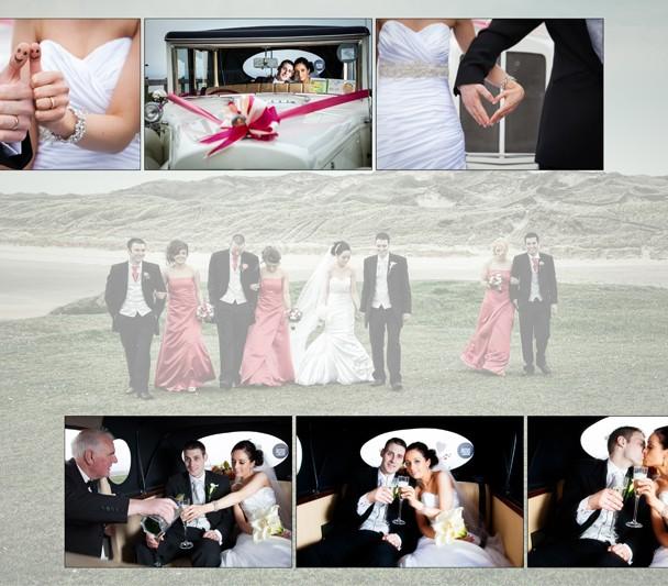 Album design of Wedding Couple at Roughey Bundoran