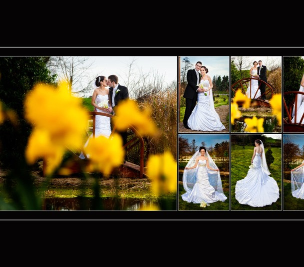Album design of a couple at the Mill Park Gardens Donegal Town