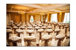 Ballroom Ready for ceremony Cromleach Lodge Sligo