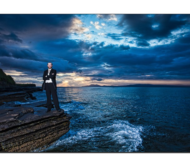 The Groom at Sunset Bundoran
