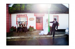 Ballyshannon Wedding Photography Bridal Party pose at the Thatch Pub
