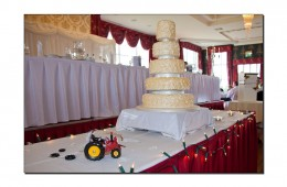 Tractor themed cake at the Great Northern Hotel