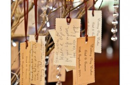 A message tree at a wedding reception
