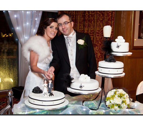 Cutting the Wedding Cake in the Abbey Hotel Donegal