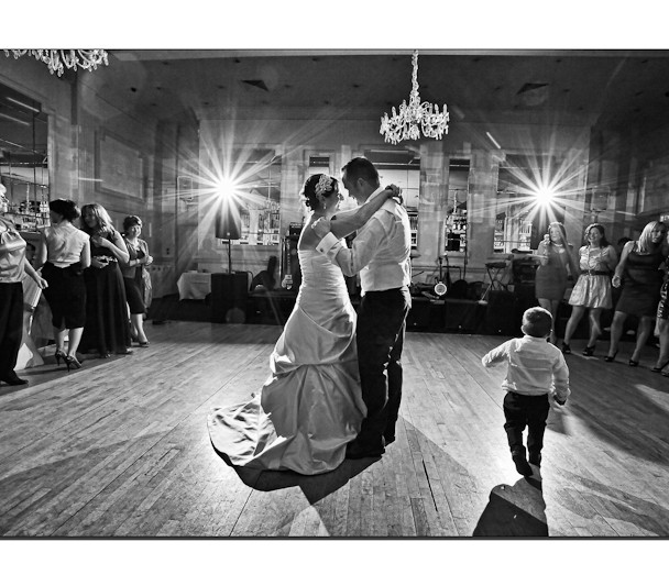 First Dance Black and White Wedding Photo Meyrick Hotel Eyre Square Galway
