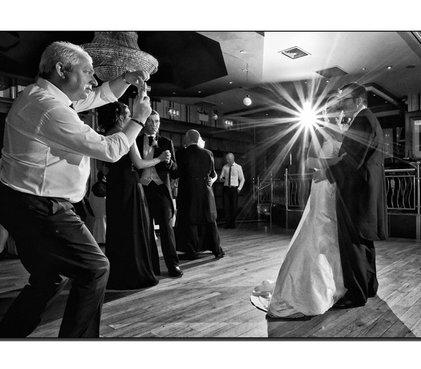 Bride and Grooms first dance in the Abbey Hotel