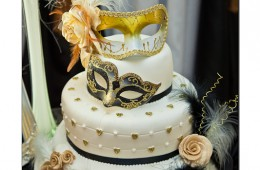 Masquerade Wedding Cake