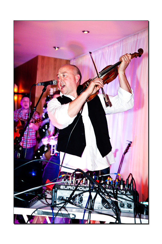 The Big Jigs Fiddle Player wedding at Villa Rose Hotel Ballyboffey