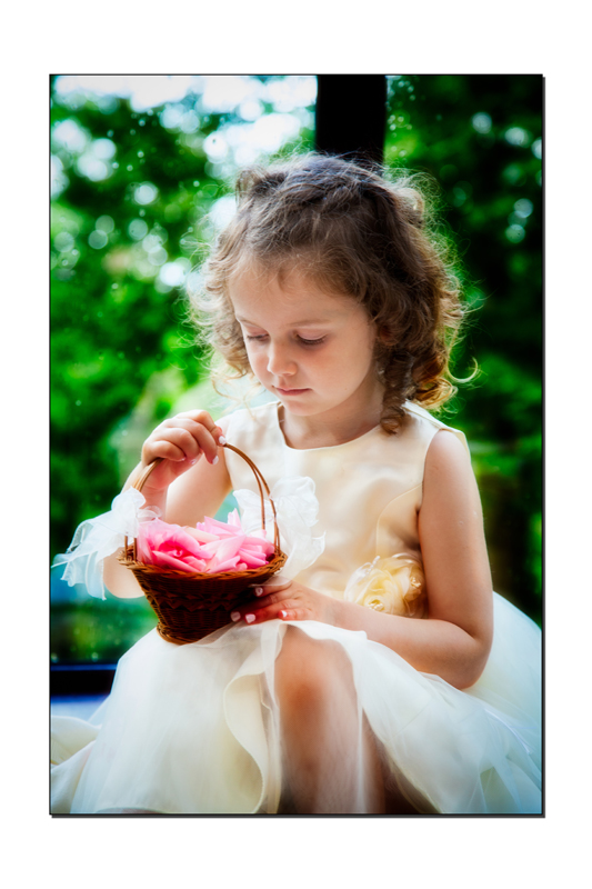 Longford Wedding Photography Flowergirl with her basket of petals