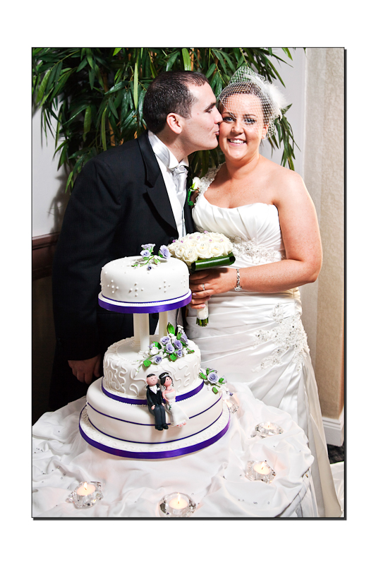 Bride Groom and wedding Cake in the Millpark Hotel Donegal