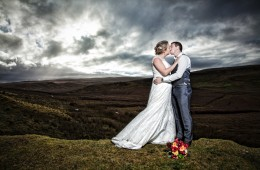 couple kiss on old mountain road in kinlough co Leitrim