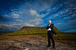 Groom portrait With Benbulben Mountain Sligo In The Background