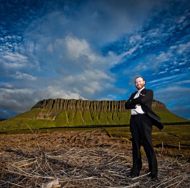 Groom portrait With Benbulben Mountain Sligo In The Background