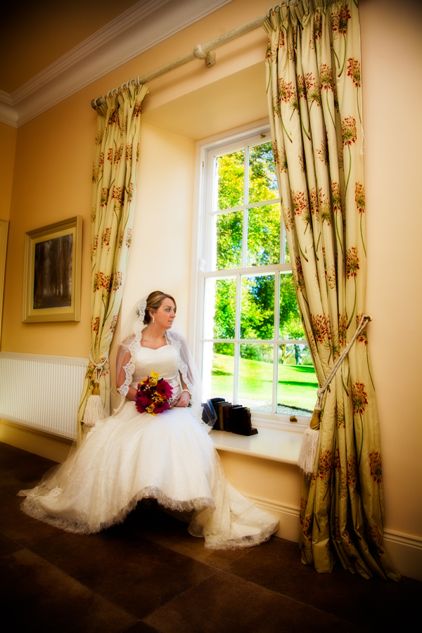Bride in Drumhallah House Rathmullan
