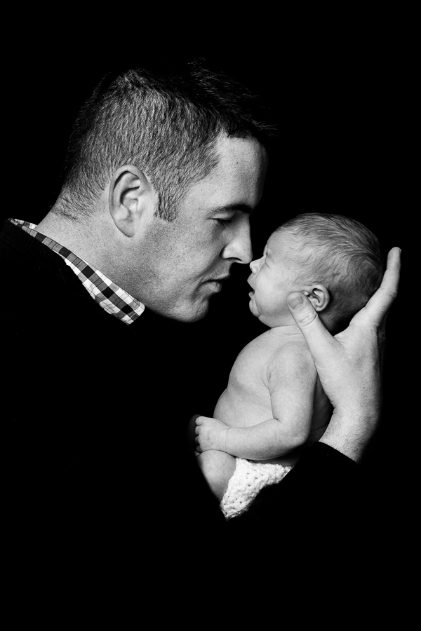 newborn baby and dad