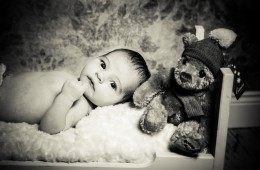 sligo newborn baby photography newborn baby with teddy