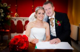wedding photo in st aidans church kinlough co leitrim