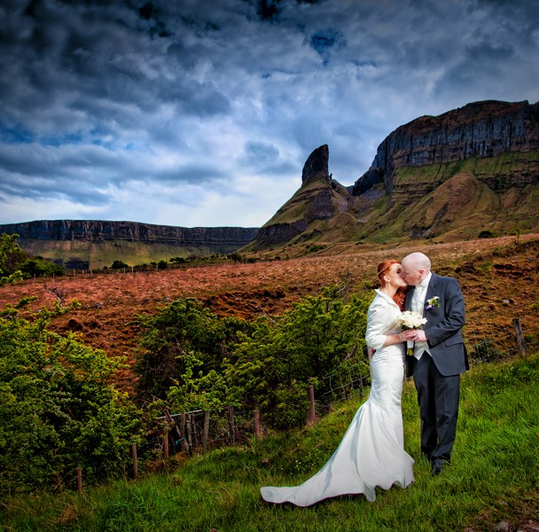 bride and groom photo in glenade co leitrim