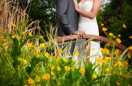 couple in the garden of the mill park hotel donegal town
