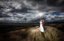 donegal wedding photography couple on murvagh beach