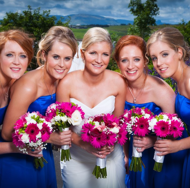 mill park hotel wedding photography bride with bridesmaids