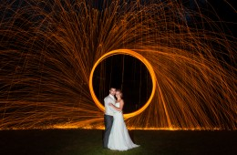 painting with light wedding photo at the mill park hotel donegal town