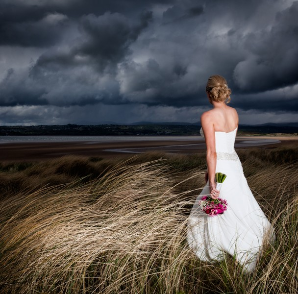 sligo wedding photographer bride on a sand dune
