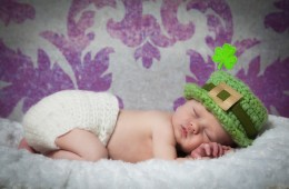 newborn baby photographer sligo baby boy with irish hat
