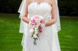 sligo wedding photography bride in the garden
