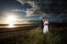 best wedding photography in donegal couple on rossnowlagh beach at sunset