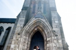 bundoran wedding photographer bride and groom at bundoran church