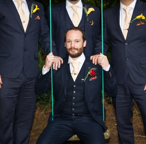 sligo weding photography groom with groomsmen