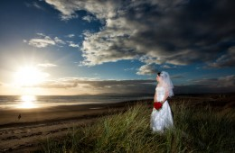 wedding photography donegal bride on rossnowlagh beach
