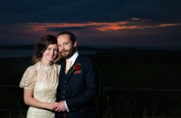 weddings in sligo couple at sunset at ardtarmon house sligo