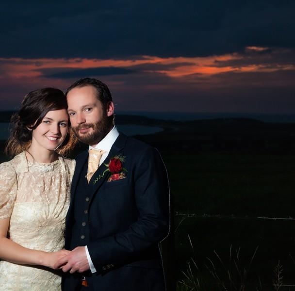 weddings in sligo couple at sunset at ardtarmon house sligo