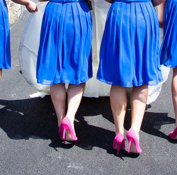 bridesmaids shoes donegal wedding photography