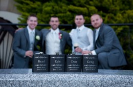 groomsmen hip flasks donegal wedding photographer