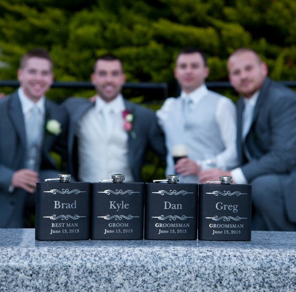 groomsmen hip flasks donegal wedding photographer