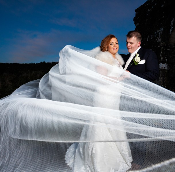wedding photos taken at trim castle