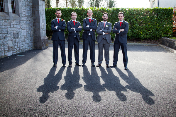 longford wedding photographer groom and groomsmen