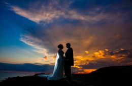 donegal wedding photos at sunset