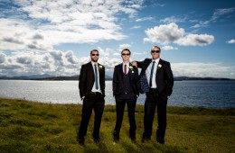 donegal wedding photographers cool groom and groomsmen