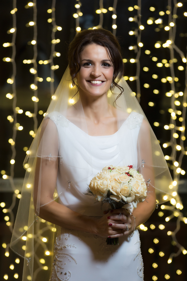 castle dargan hotel christmas wedding bride wedding photo