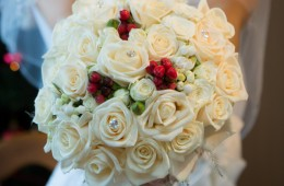 donegal wedding brides bouquet for winter wedding